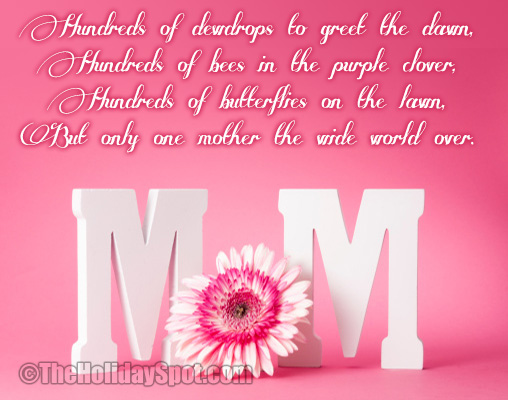 Enter Our Mothers Day Poems Giveaway For A Chance To Win A ...