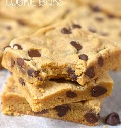 Cooking On A Budget: Super Delish & Easy Chocolate Chip Cookie Bars!