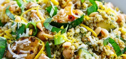 Cooking On A Budget: Zucchini And Corn Quinoa Pesto!