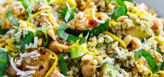 Cooking On A Budget: Zucchini And Corn Quinoa Pesto!
