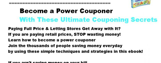 STOP LETTING STORES RIP YOU OFF-Discover The Couponing Secrets of Experts With Power Couponer!