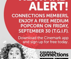 FREE Popcorn At Cinemark Movie Theaters On Friday Only!