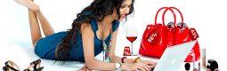 girl shopping online