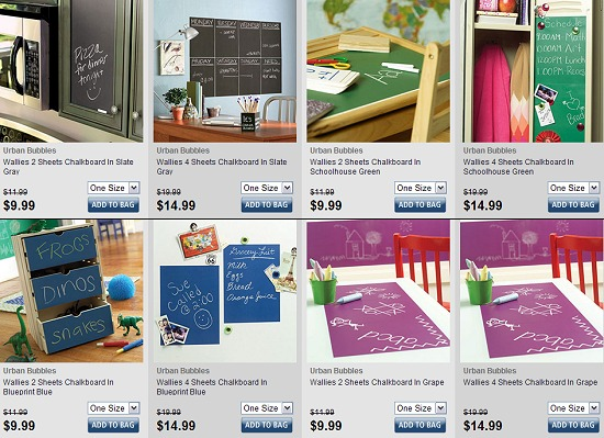 WALLIES CHALKBOARDS WALL ADHESIVES + ED HARDY KIDS + MORE – up to 90% OFF TODAY