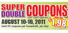 HARRIS TEETER SUPER DOUBLES 8/10-8/16