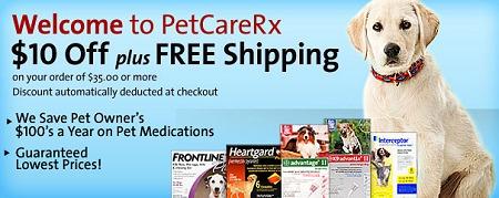 $10 off PetCareRX - Frontline + More