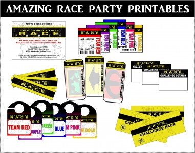 But Now With This Amazing Race Party Printables Pack You Can Everything In One The Set Includes See Above Templates For An Editable