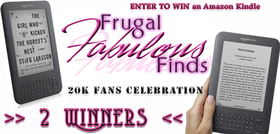 20K FANS CELEBRATION ~ AMAZON KINDLE GIVEAWAY – ENTER TO WIN 1 of 2 GRAND PRIZES