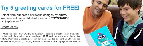 SNAPFISH FREE CARDS – 5 CUSTOM GREETING CARDS only $1.49 SHIPPED