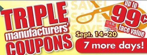 HARRIS TEETER TRIPLES MATCHUPS – FREE + UNDER $2 DEALS 9/14-9/20