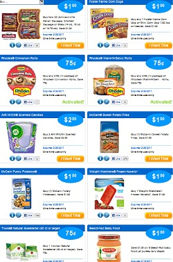 NEW SAVINGSTAR eCOUPONS – JOHNSONVILLE – WEIGHT WATCHERS – RHODES – AIRWICK + MORE