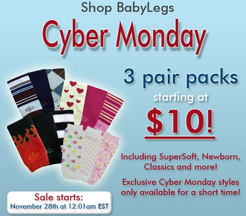 CYBER MONDAY BABYLEGS SALE 3 PAIRS just $10