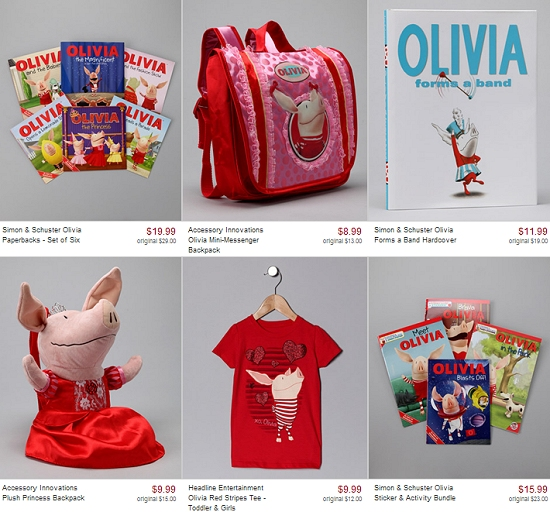 ALL THINGS OLIVIA SALE = KIDS OLIVIA BOOKS – ACCESSORIES – CLOTHES + MORE