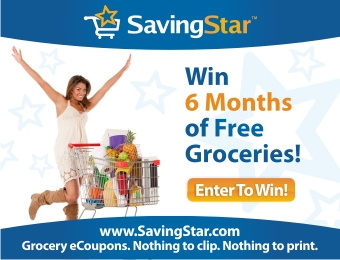 SAVINGSTAR eCOUPONS – ENTER TO WIN 6 MONTHES OF FREE GROCERIES