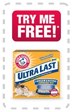 ARM + HAMMER REBATE – PRINTABLE MIR for ULTRA LAST CLUMPING LITTER – 20lb up to $8.99