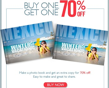 MYPUBLISHER PHOTOBOOKS COUPON CODE BOGO 70% OFF HARDCOVER PHOTO BOOKS