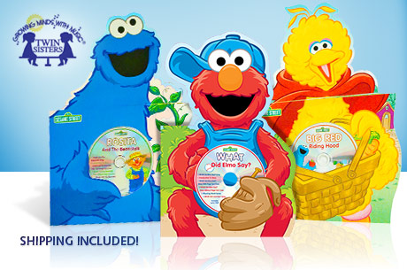 3 SESAME STREET BOARD BOOKS + AUDIO CD SETS just $12 SHIPPED (as low as $8 shipped)