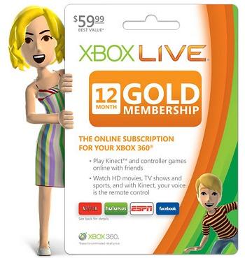 XBOX LIVE GOLD MEMBERSHIP DEALS – 12 MONTH GOLD CARD just $38.37 (REG. $59.99)
