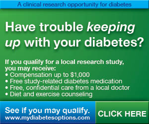 PAID RESEARCH STUDY FOR DIABETES