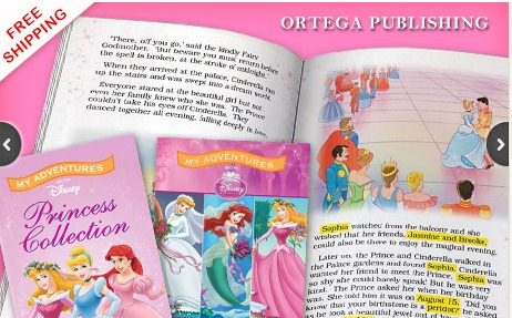 PERSONALIZED DISNEY PRINCESS or CARS BOOK SET DEAL + FREE SHIPPING