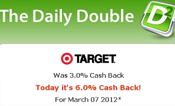 TARGET CASH BACK DOUBLED ONLINE TODAY + FREE $10 GIFT CARD – TODAY ONLY