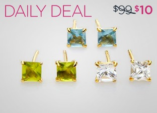 MODNIQUE YELLOW 14K GOLD EARRINGS – SET OF 3 just $10