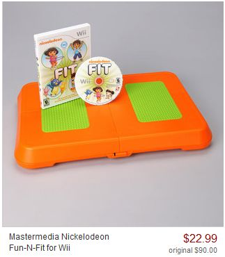 ZULILY: NICKELODEON FUN-N-FIT GAME + BALANCE BOARD FOR WII only $22.99