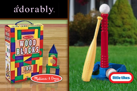 EVERSAVE NATIONAL DEAL: just $10 for MELISSA AND DOUG, LITTLE TIKES T-BALL SET + MORE