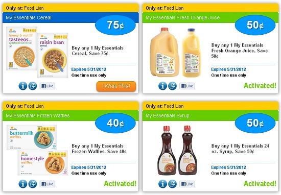 FOOD LION eCOUPONS ON SAVINGSTAR – 4 NEW FOOD LION ECOUPONS