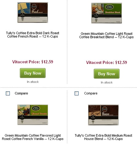 K-CUPS DEALS w/ FREE $10 off $10 COUPON CODE = CHEAP TULLY'S + GREEN MOUNTAIN K-CUPS