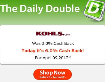KOHLS COUPON CODES + DOUBLE CASH BACK + FREE $10 GIFT CARD – TODAY ONLY