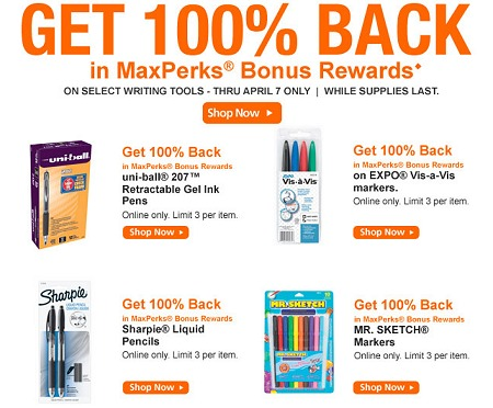 OFFICEMAX MAXPERKS RECYCLING PROGRAM REWARDS CHANGE