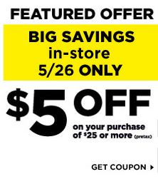 image about Printable Dollar General Coupons identified as Greenback Over-all PRINTABLE COUPON - $5 off $25 Shop COUPON