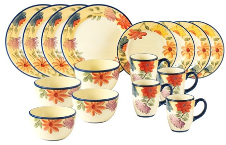 PFALTZGRAFF DANCING BLOOMS DINNERWARE SET just $49 – TODAY ONLY (REG. $140)