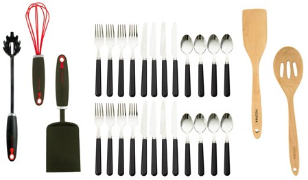 $81 PEDRINI 29 PC FLATWARE + GADGET SET just $27 – TODAY ONLY