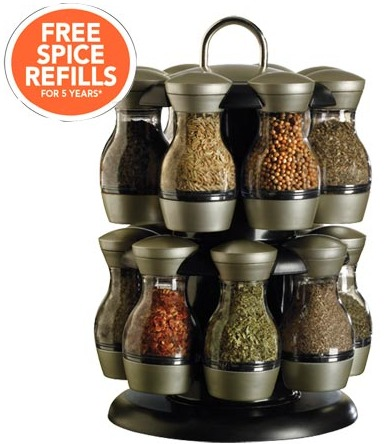 KAMENSTEIN 16 JAR SPICE RACK just $25 + FREE REFILLS – TODAY ONLY