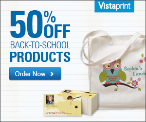 50% Off Back to School Products from Vistaprint