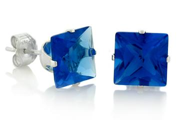 DARCUS TORI: 100% OFF BLUE SAPPHIRE STUD EARRINGS