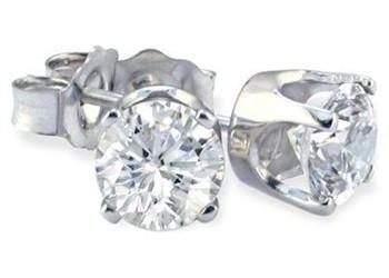 DARCUS TORI: 100% OFF ROUND DIAMOND + RUBY STUD EARRINGS