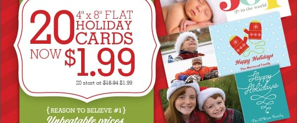 NEW VISTAPRINT CUSTOMERS – GET 20 HOLIDAY CARDS FOR ONLY $1.99 + SHIPPING!