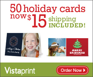 50 PERSONALIZED HOLIDAY CARDS FOR ONLY $15 SHIPPED!
