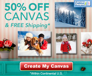 VALENTINES DAY CANVAS PEOPLE SPECIAL – GET 50% OFF + FREE SHIPPING!