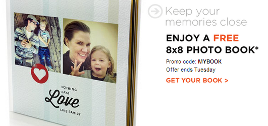 FREE SHUTTERFLY 8X8 PHOTO BOOK – JUST PAY SHIPPING AND HANDLING!