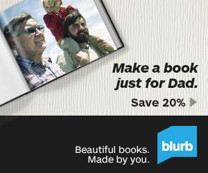 Blurb Fathers Day 20% Off Sale thru 6-10-2013
