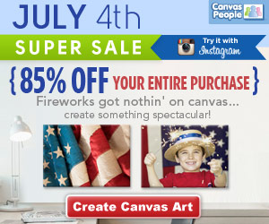 Canvas People July 4th Sale ~ Get a Photo Canvas for 85% Off