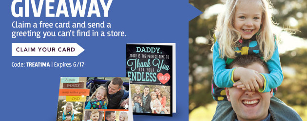 Free Fathers Day Card from Treat – Ends 6-17-2013