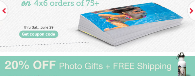 Walgreens Photo Deals + Coupon Codes thru 6-29-2013