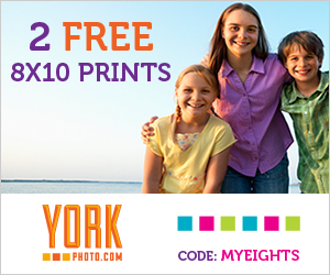 Get 2 Free 8×10 Prints from YorkPhoto.com!