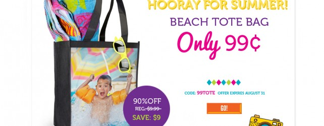 Beach Tote Bag only 99 Cents from YorkPhoto.com!