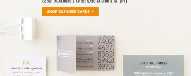 Tiny Prints: 50% Off Business Cards thru 8-30-2013
